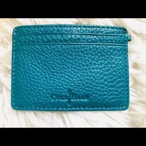 Cole Haan turquoise leather card holder wallet